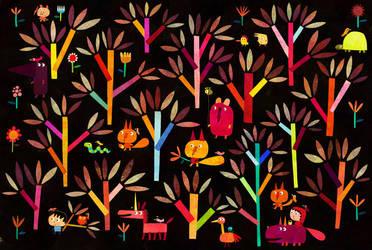 Polish forest by nicolas-gouny-art