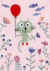 Flying cat by nicolas-gouny-art