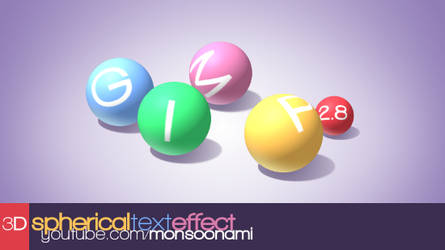 3D Spherical Text Effect [video tutorial] by monsoonami