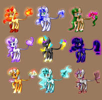 Elemental Unicorn Suiren-Poofe Adopts .:CLOSED:. by SuirenHime