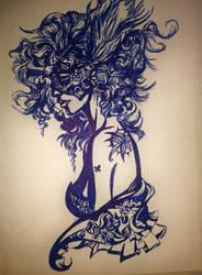 Queen of Clubs by Mizecki