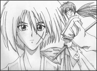 Kenshin - My 1st Manga Style by cfraser