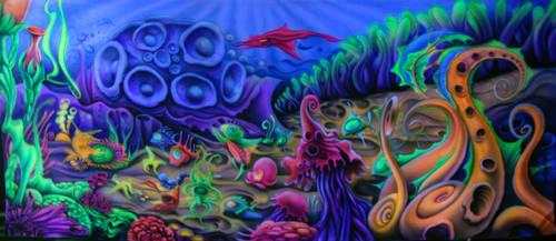 Aquaparty.Airbrushed by nikoxil