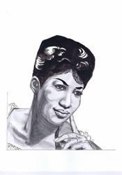Aretha Franklin by dragonaki