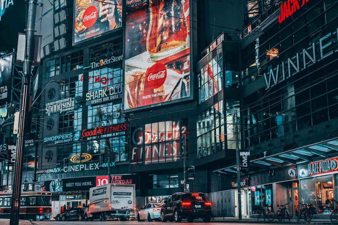 city full of ads by Noise-Less