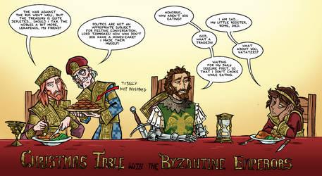 Christmas Table with Byzantine Emperors by NikosBoukouvalas
