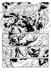 Inking Practice GotG, page 1 by LucGrigg