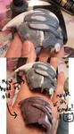 Turian head cast 3 by batchix