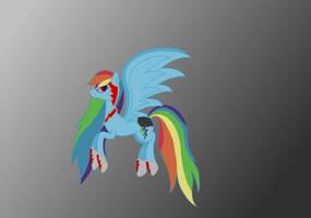 Nightmare Rainbow Dash by RandomThingsILike