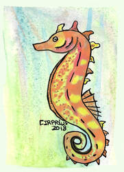 Floating Seahorse by Cirprius