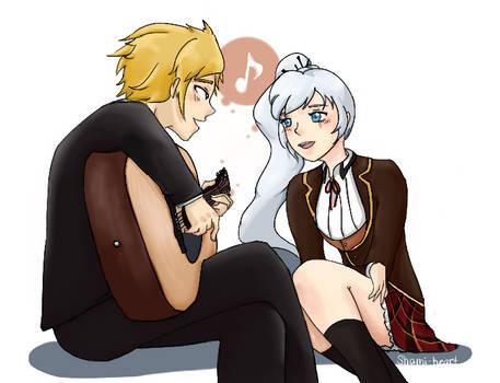 RWBY: Jaune x Weiss Duet by shami-heart
