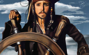 +- Captain Jack Sparrow -+ by yamiyugi