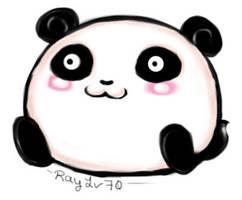 Chibi Panda by AellaiKim