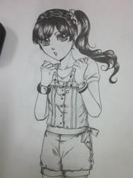 teenage girl by takashishara