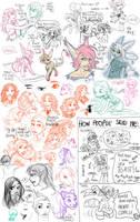 Unicolor Drawing Massacre by leelakin