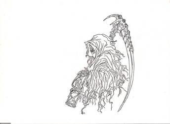 grim reaper tattoo design, by countrygirllover