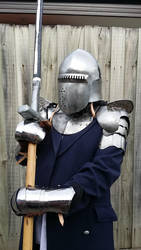 Man-at-Arms in slightly rusty armour 02 by Stormbadger