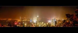The Hong Kong Skyline by WiDoWm4k3r
