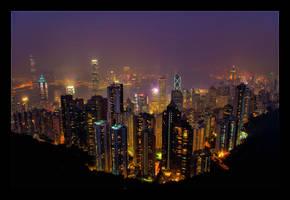 Peak Tower View by WiDoWm4k3r
