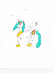 Another princess celestia drawing-1 by justin-Digital01