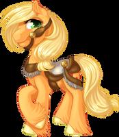 Carousel Applejack by KittehKatBar