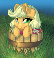 Baby Applejack by KittehKatBar