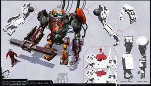 Construction Site Robot GB-7 by MackSztaba