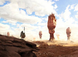 Desert-Castle by MackSztaba