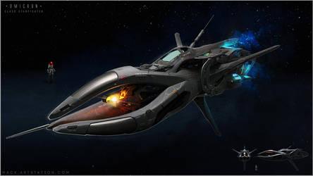 Omicron-Starfighter by MackSztaba