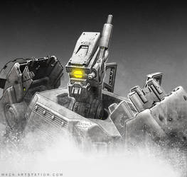Robot-Head by MackSztaba