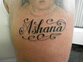Ashana lettering by nsanenl