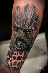 I AM GROOT ! Guardians of the galaxy tattoo by nsanenl