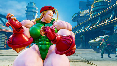Muscle Goddess Cammy Stage 2/ Swole Fighter II by Ripped-Pixels