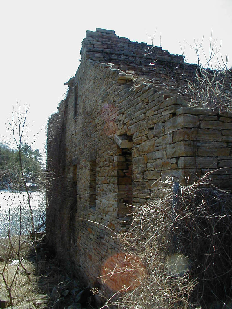 Ruins of old mill in Rossie NY by Lectrichead
