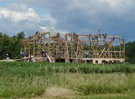 Amish Barn-raising by Lectrichead