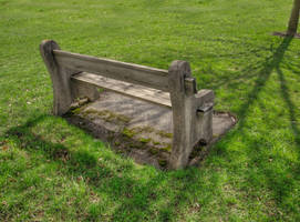 Mossy Bench, Watertown HDR by Lectrichead