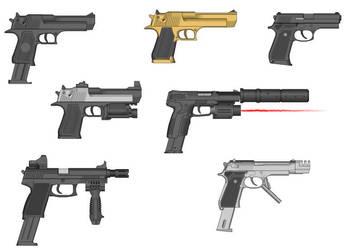weapon pack 3 pistols by Arbiter-dstryr-reach