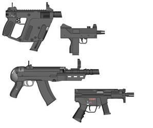 weapon pack 4 MicroSMGs by Arbiter-dstryr-reach
