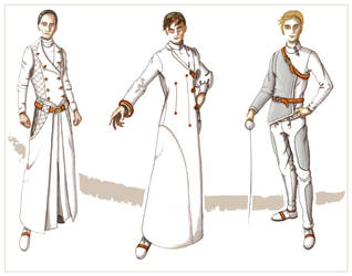 Fencing Illustration board by Marcusstratus