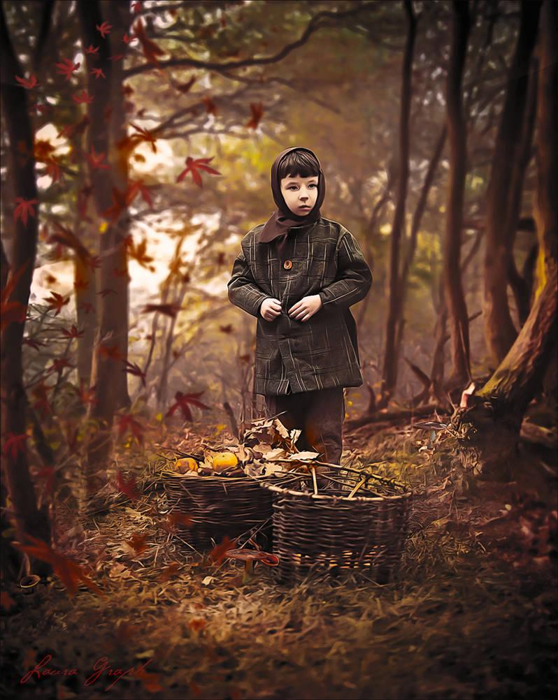 L Enfant Dans La Foret by Laura-Graph