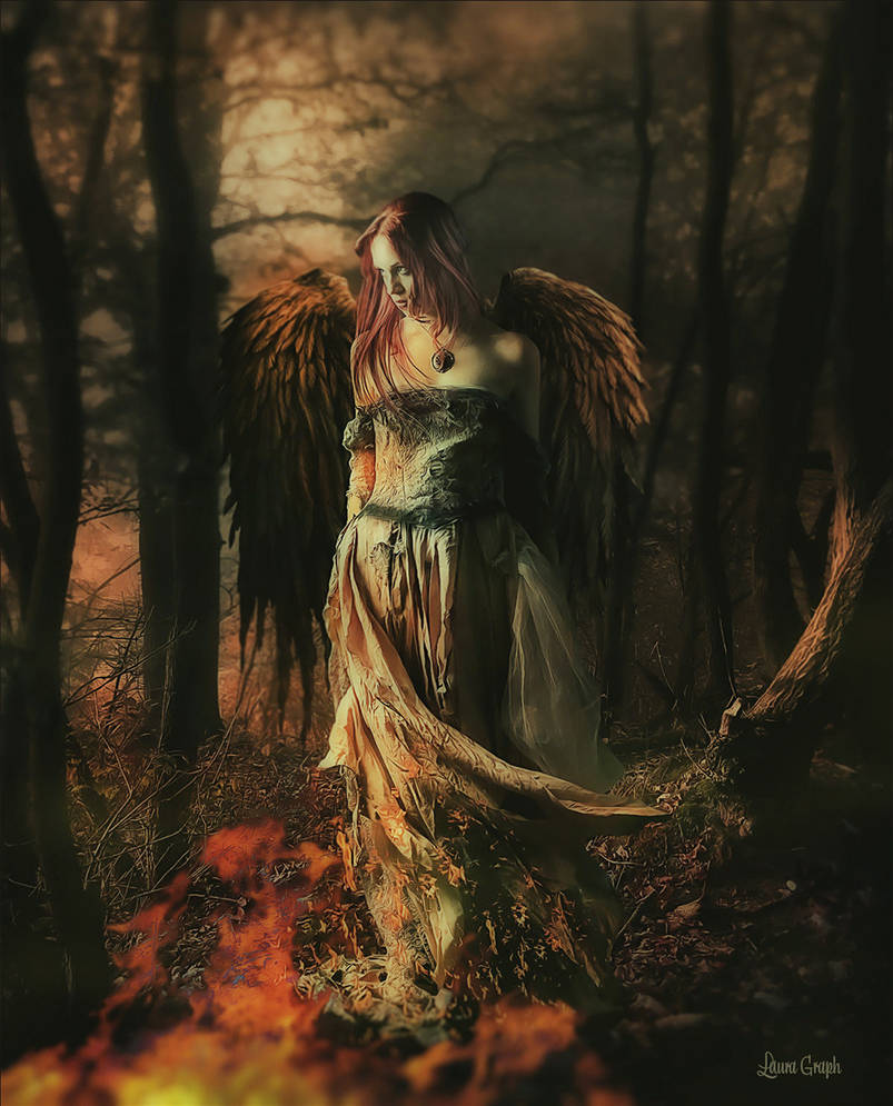 The fallen angel by Laura-Graph