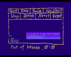 Out of Heaven main screen by Abrimaal