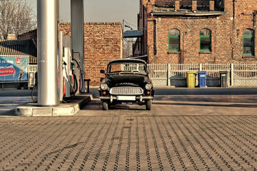 Petrol Station by Abrimaal