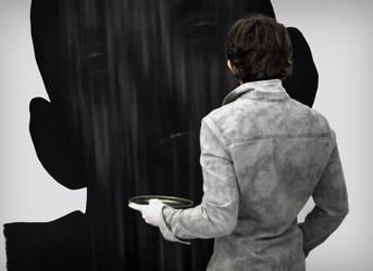 Dragos Sulgheru - charcoal drawing by Dragos-Sulgheru