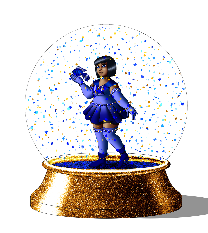 Sailor Glacium Snowglobe version 1 by Chibi-Sugar
