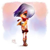 Mikasa (Fan Art from Shingeki no Kyojin) by minomiyabi