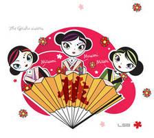Geisha sisters by ladysnowbloodz