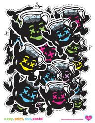 copy.print.cut.paste.clusters by ladysnowbloodz
