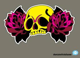 RoseSkullTattoo by ladysnowbloodz