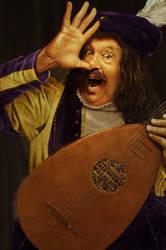 Happy lute player by JasperHolland